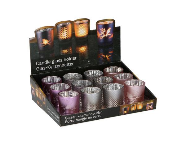 Коледна поставка за чаена свещ