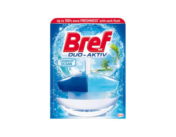 Ароматизатор за WC Bref Duo Aktiv - океан, 50 ml