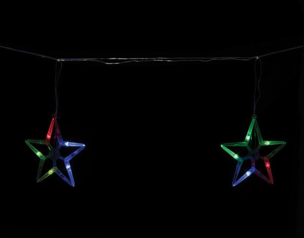 Коледни лампички - падащи звезди, 6 бр.