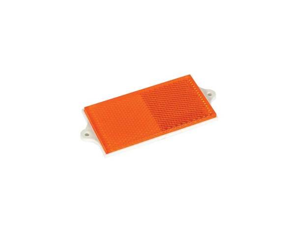 Правоъгълен светлоотразител с 2 отвора - оранжев