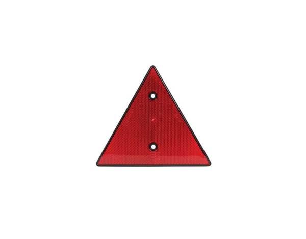Триъгълен светлоотразител с 2 отвора - червен