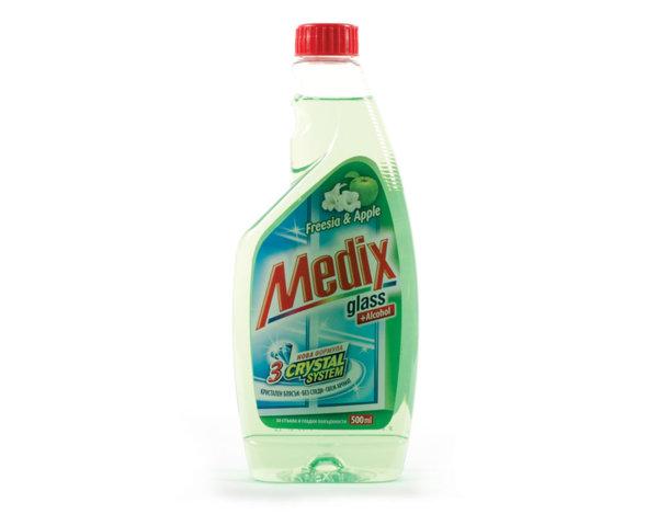Препарат за стъкла, резерва - 500 ml, различни аромати