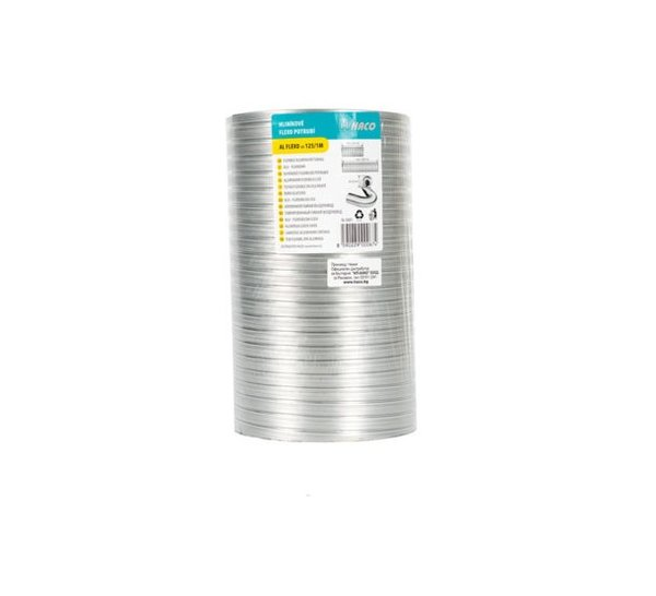 Гъвкав алуминиев въздухопровод, 1 m - различни размери