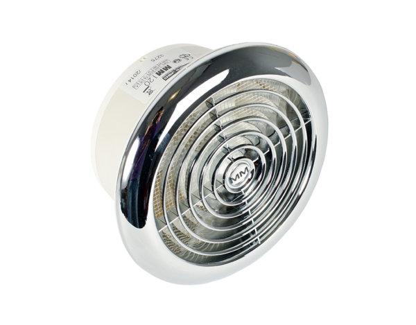 Кръгъл вентилатор с клапа Chrome - 18 W, ø120 mm