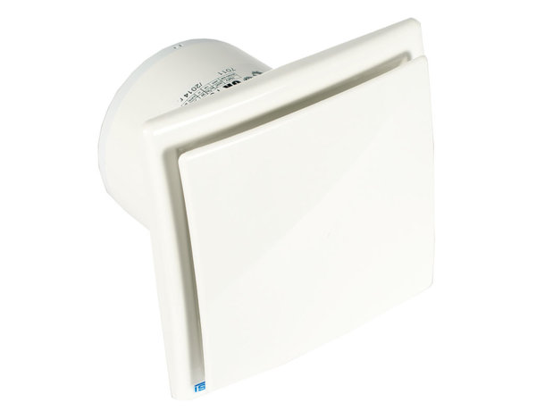 Квадратен вентилатор с клапа - 11 W, ø100 mm