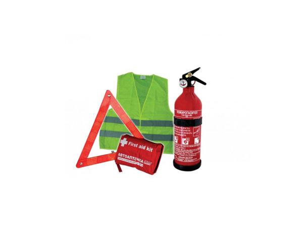 Авариен автокомплект с пожарогасител