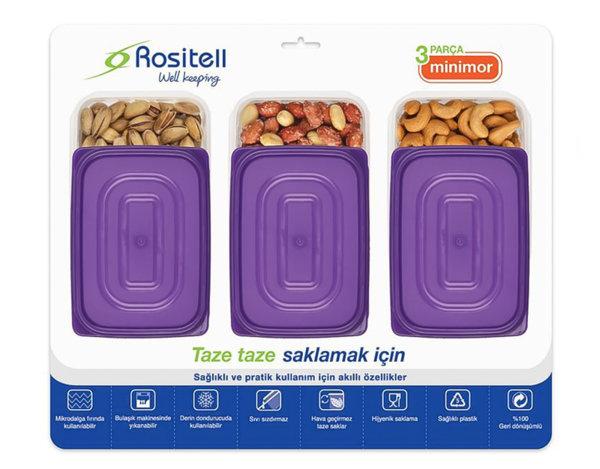 Кутии Minimor - за съхранение на ядки, 3 бр.