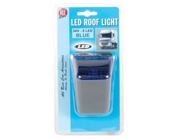 Синя светлина за камион - 5 LED/24 V