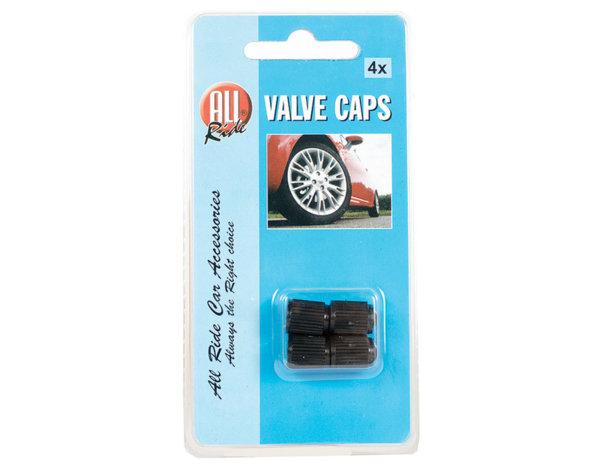 Черни капачки за гуми - 4 бр.