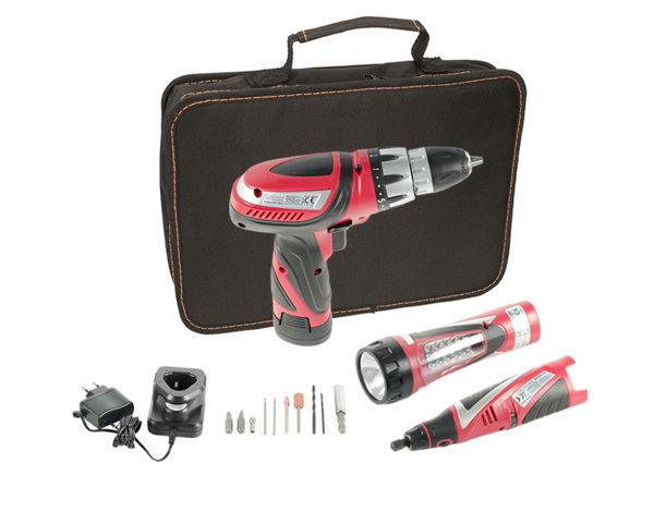 Комплект акумулаторни инструменти Raider 030124