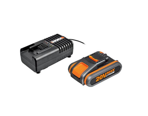 Комплект батерия и зарядно WA3601 - Li-ion 20 V/2 Ah