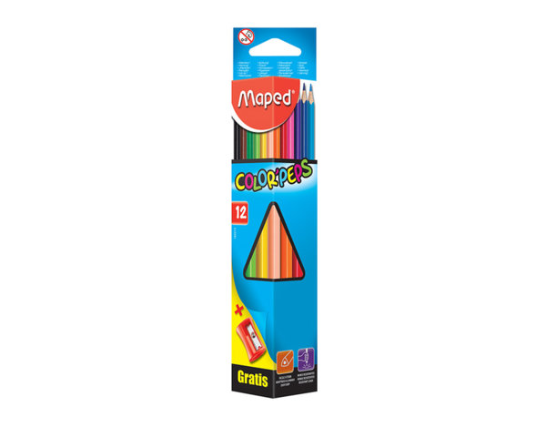 Комплект цветни моливи - 12 бр.