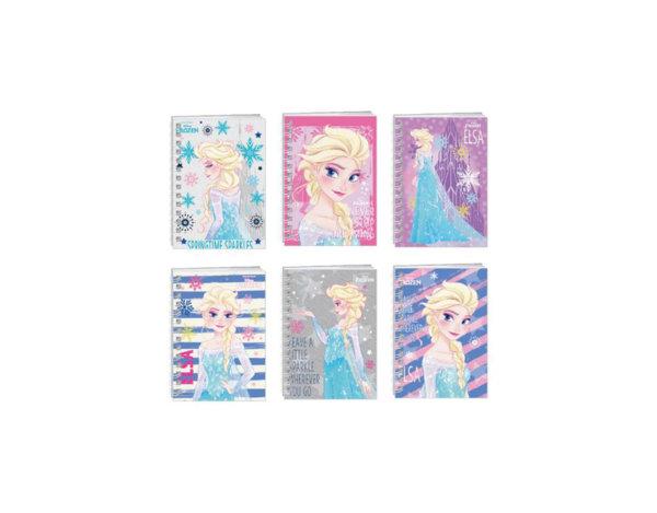 Бележник Frozen, със спирала  - 50 листа, A6