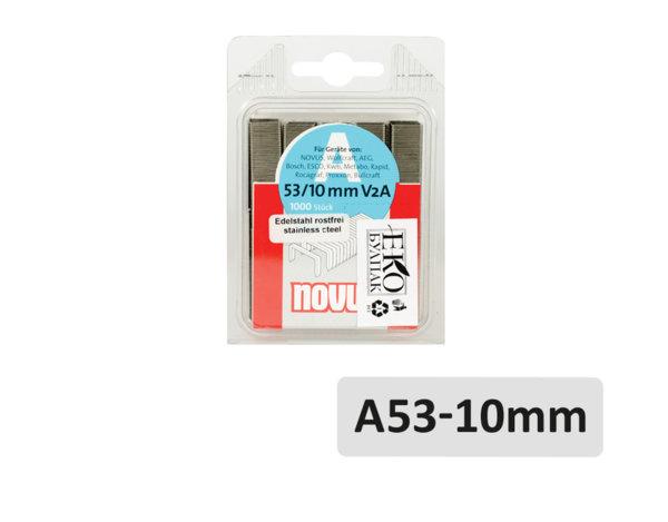 Скоби за такер A53 - 10 mm, 1000 бр.
