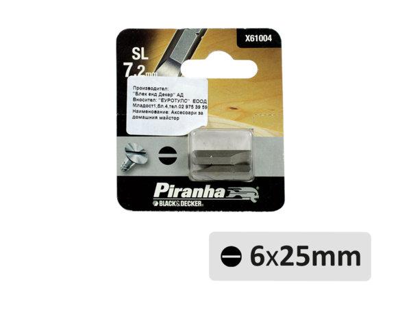 Прави накрайници - SL6 x 25 mm, 2 бр.