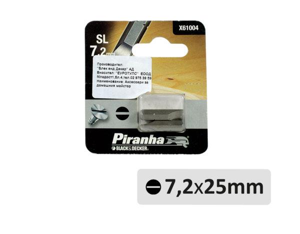 Прави накрайници - SL7.2 x 25 mm, 2 бр.