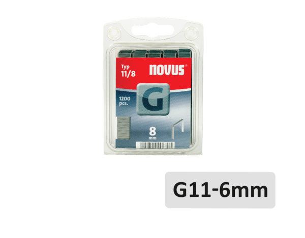 Скоби за такер - G11 x 6 mm, 1200 бр.