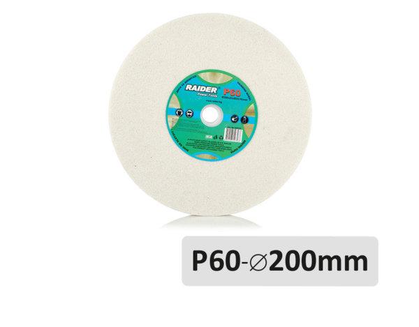 Диск за шмиргел P60 - ø200 mm, бял