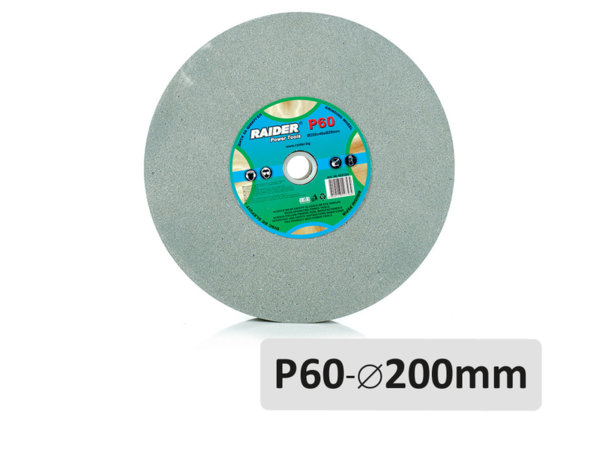 Диск за шмиргел P60 - ø200 mm, сив