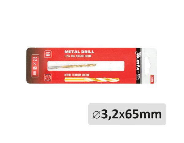 Свредло за метал - ø3.2 x 65 mm