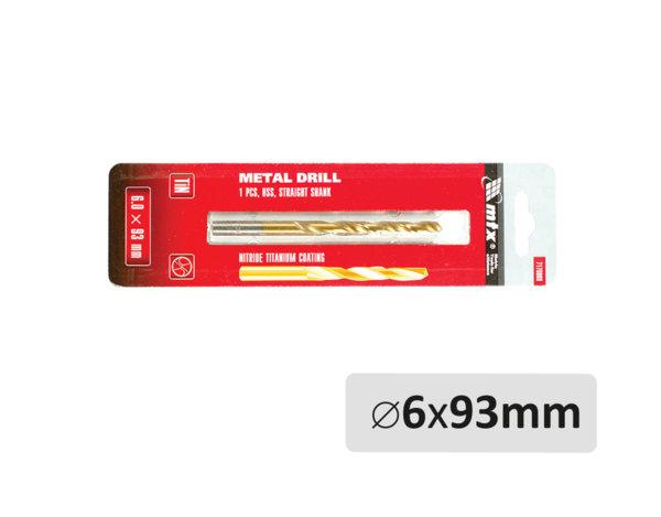 Свредло за метал - ø6 x 93 mm