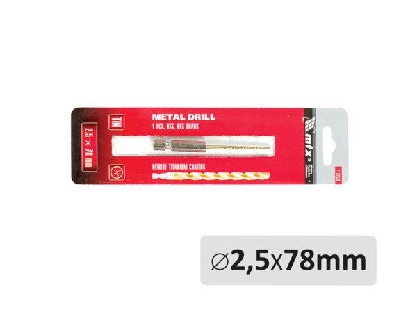 Свредло за метал - ø2.5 x 78 mm
