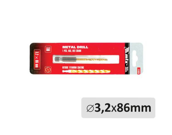 Свредло за метал - ø3.2 x 86 mm