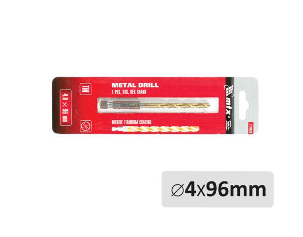 Свредло за метал - ø4 x 96 mm