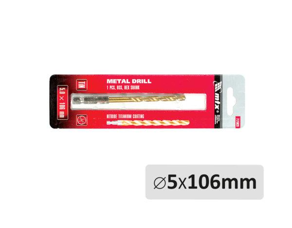 Свредло за метал - ø5 x 106 mm
