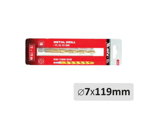 Свредло за метал - ø7 x 119 mm