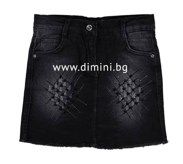Дънкова пола черна