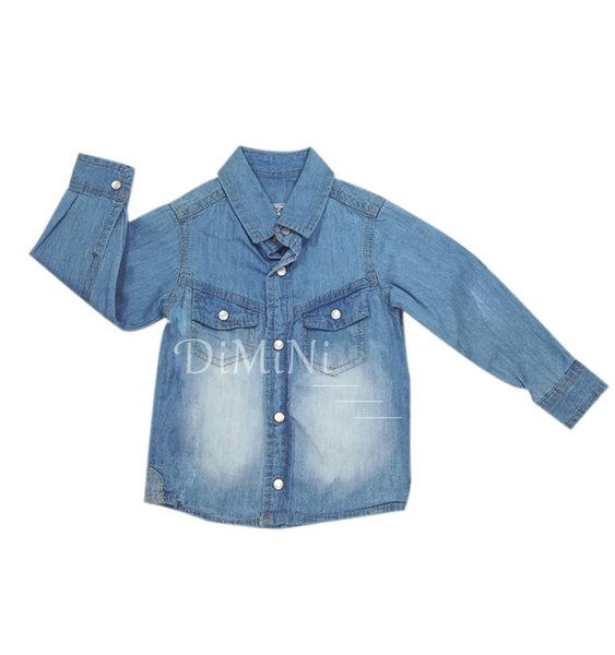 Дънкова риза за бебе момченце