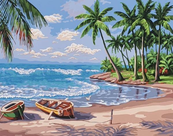 Рисуване по номера - Тропически залив (Сунг Ким)