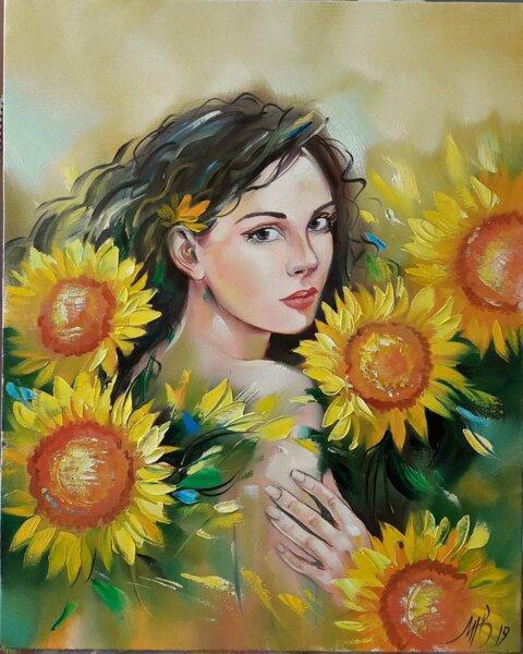 Рисуване по номера - Нежност (по оригинал на Миглена Кирилова)