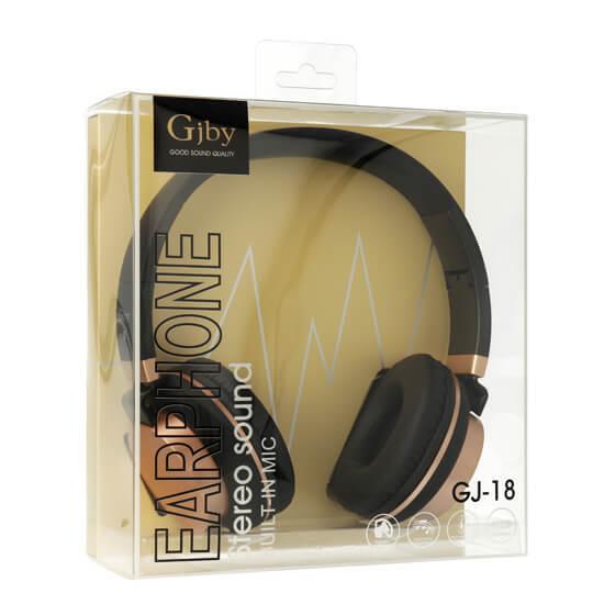 Слушалки за телефон с мощен басимикрофон GJBY GJ-18Audio Extra BassЧерни