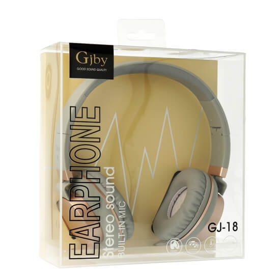 Слушалки за телефон с мощен басимикрофон GJBY GJ-18Audio Extra BassСиви