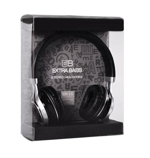 Слушалки за телефон с мощен басимикрофон EP-16Audio Extra BassЧерни