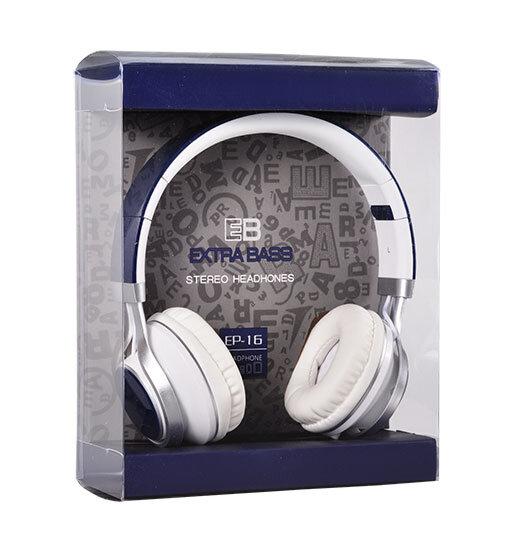 Слушалки за телефон с мощен басимикрофон EP-16Audio Extra BassСини