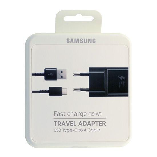 Оригинално Бързо Зарядно - SAMSUNG Fast Charger USB-C Ep-Ta20ebe S10/S9/S8 Black