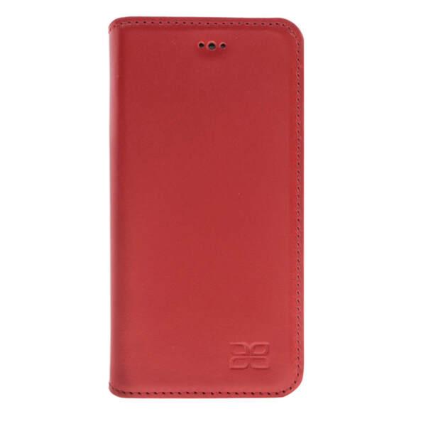 Луксозен кожен калъф Bouletta заiPhone 7 / 8 Plus червен
