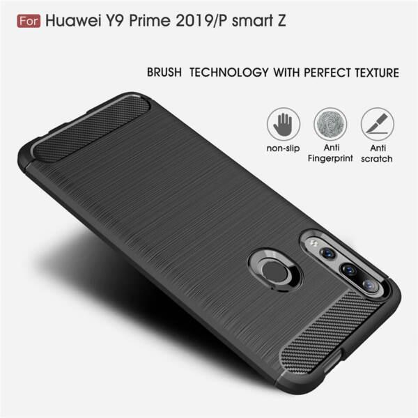 Хибриденсиликоновкейс /калъф Carbon Case за Huawei Honor 9X