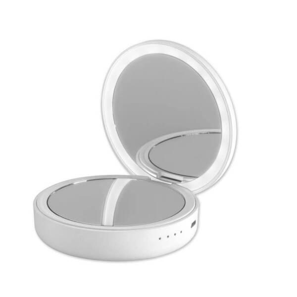 Външна Батерия с LED Огледало 4SMARTS Power Bank Pocket Mirror 4000 White