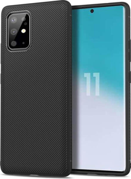 Черен Силиконов Калъф / Кейс за Samsung Galaxy S20+ Plus Twill Case