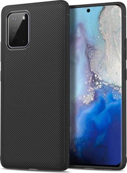 Черен Силиконов Калъф / Кейс за Samsung Galaxy S20 Twill Case