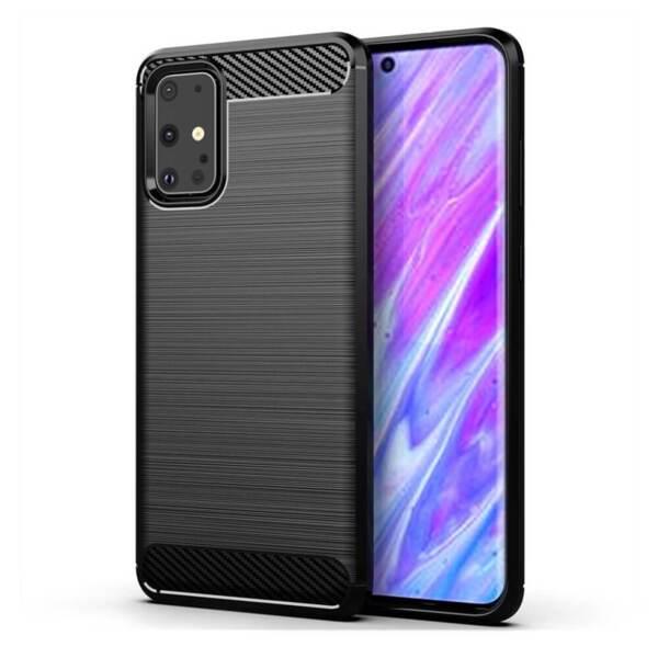 Хибриден калъф / гръб / кейс Carbon Case за Samsung Galaxy S20+ Plus, черен