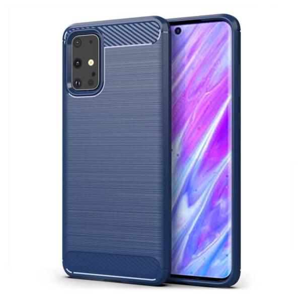 Хибриден калъф / гръб / кейс Carbon Case за Samsung Galaxy S20+ Plus, син