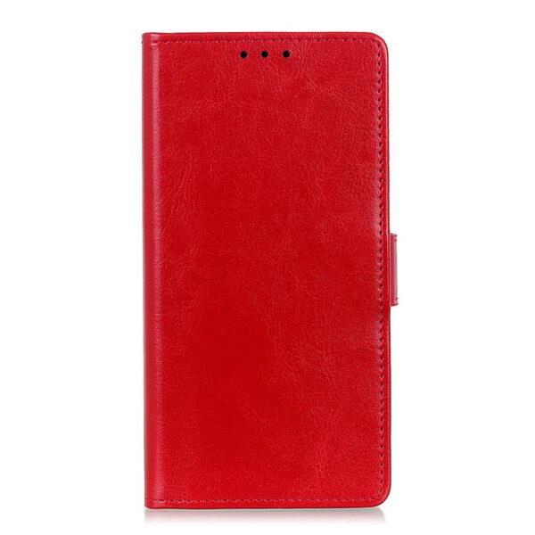 Луксозен калъф Book Leather Case за Samsung Galaxy A20S червен