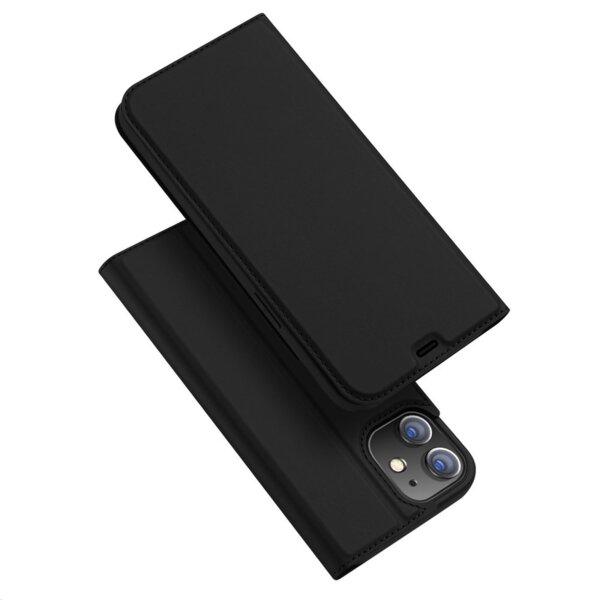 Луксозен калъф тефтер заiPhone 12 / 12 Pro DUX DUCIS SKIN черен