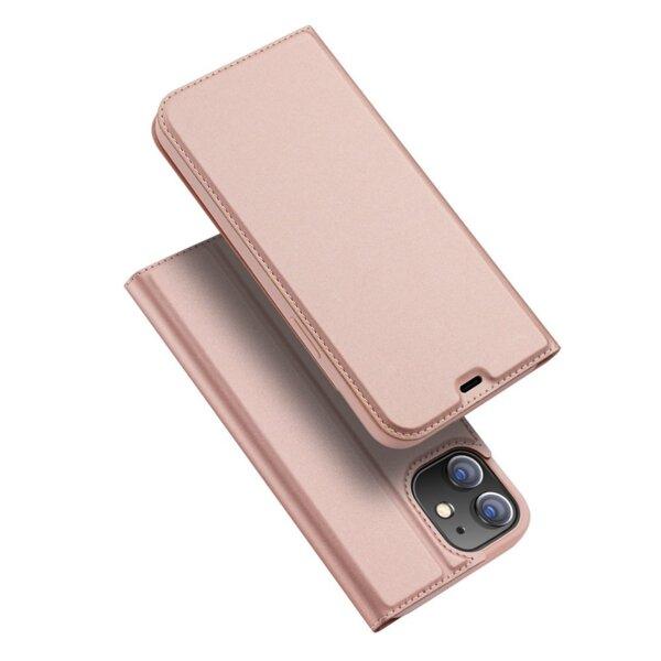 Луксозен калъф тефтер заiPhone 12 / 12 Pro DUX DUCIS SKIN розов