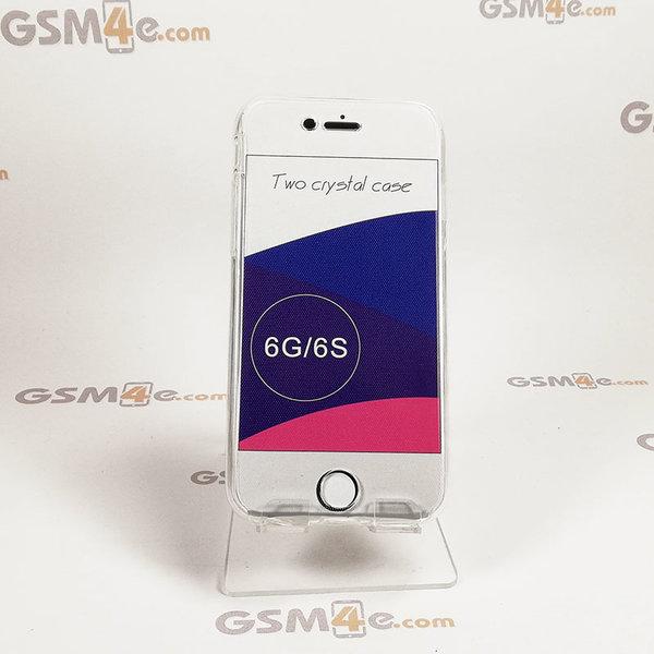 Прозрачен силиконов 360 градусов калъф / кейс за iPhone 6/6S
